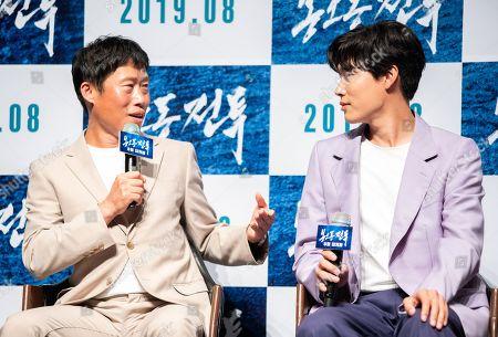 South Korean actors Yoo Hae-jin, Ryu Jun-yeol