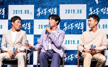 Editorial image of 'The Battle: Roar to Victory' film press conference, Seoul, South Korea - 03 Jul 2019