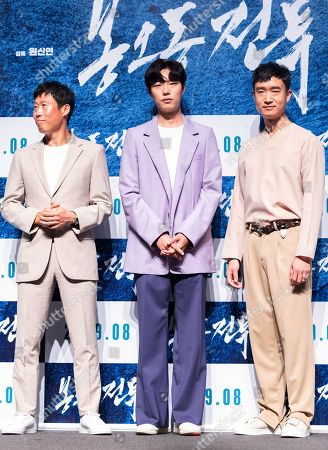 South Korean actors Yoo Hae-jin, Ryu Jun-yeol, Jo Woo-jin