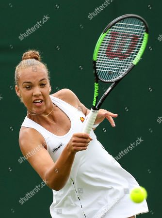 Stock Image of Freya Christie during her Ladies doubles first round match