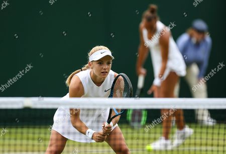 Stock Picture of Freya Christie and Katie Swan during their Ladies doubles first round match