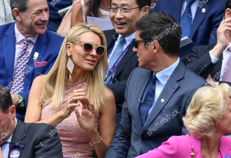 Tess Daly and Vernon Kay on Centre Court