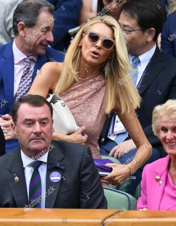 Tess Daly on Centre Court