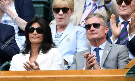David Coulthard and Karen Coulthard on Centre Court