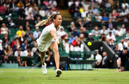 Magdalena Rybarikova during her Ladies' Singles second round match