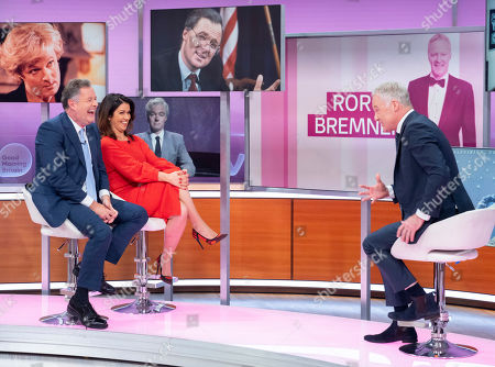 Piers Morgan and Susanna Reid with Rory Bremner