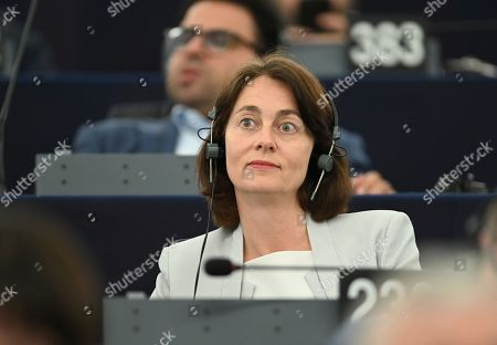 Katarina Barley from the Group of the Progressive Alliance of Socialists and Democrats in the European Parliament listens after the announcement of the results on the Parliament's President at the European Parliament, in Strasbourg, France, 03 July 2019. A vote for the new EU Parliament's presidency had been postponed to 03 July 2019 following the parliament's inaugural session on 02 July.
