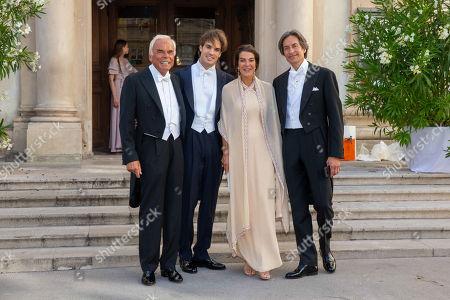 Stock Photo of Adalbert Lhota, Arturo Swarovski, Fiona Swarovski, Karl-Heinz Grasser