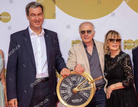 Markus Soeder, Wolfgang Petersen and wife Maria