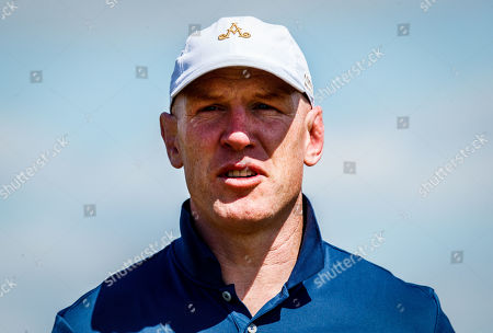 Stock Photo of Former Ireland and Munster rugby international Paul O'Connell on the 6th hole