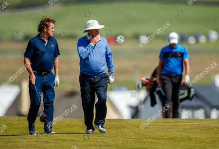 AP McCoy and JP McManus on the 6th hole
