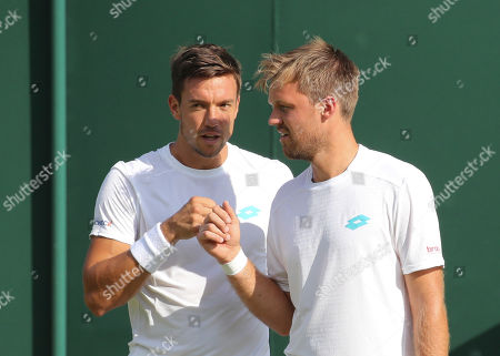 Andreas Mies and Kevin Krawietz during their doubles match