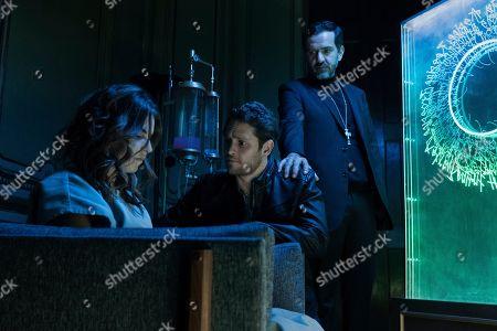 Alexa Martin as Lucia, Christopher von Uckermann as Father Ramiro Ventura and Flavio Medina as Cardenal Morelo