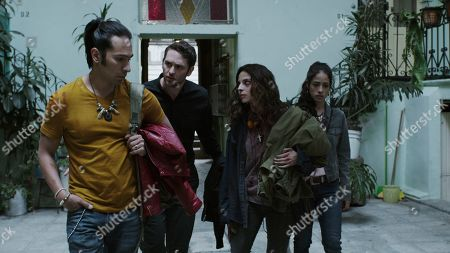 Horacio García Rojas as Elvis Infante, Christopher von Uckermann as Father Ramiro Ventura, Gisselle Kuri as Nancy Gama and Fatima Molina as Keta