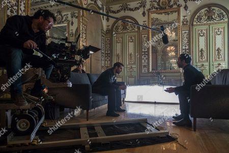 Stock Picture of Christopher von Uckermann as Father Ramiro Ventura and Flavio Medina as Cardenal Morelo