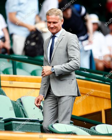 British racing driver David Coulthard in the Royal Box on Centre Court on day three of the Wimbledon Championships at the All England Lawn Tennis Club, in London, Britain, 03 July 2019.