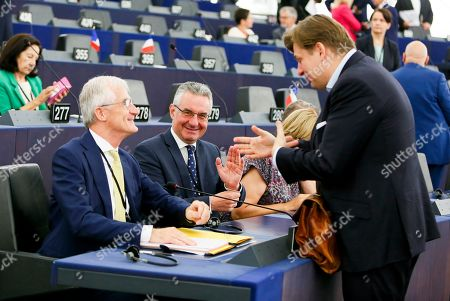 Geert Bourgeois, Jan Zahradil during the Plenary session, Election of the President of the European Parliament
