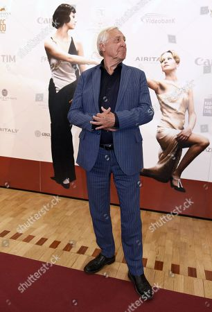 Peter Greenaway poses during a photocall at the 65th annual Taormina Film Festival, in Taormina, Sicily Island, Italy, 03 July 2019. The festival runs from 30 June to 06 July.