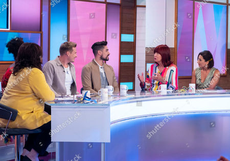 Stock Picture of Coleen Nolan, Brenda Edwards, Lee Ryan, Louis Smith MBE, Janet Street-Porter and Saira Khan