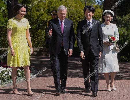 President of the Republic of Finland Sauli Niinistö and Mrs Jenni Haukio host Crown Prince Akishino and Crown Princess Akishino of Japan at the Kultaranta Castle, the Presidential Summer Residence, in Naantali, Finland