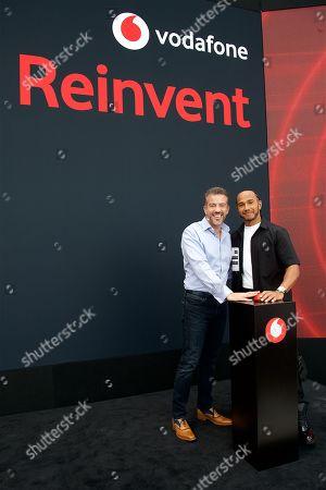 Nick Jeffery and Lewis Hamilton