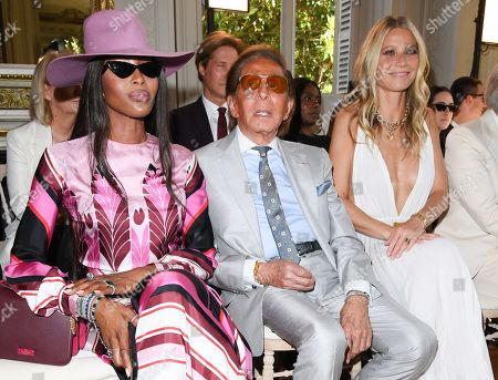 Naomi Campbell, Valentino and Gwyneth Paltrow in the front row