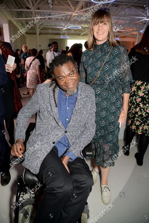 Yinka Shonibare (left) and guest