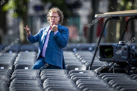 Dutch violinist and concert director Andre Rieu during the soundcheck for his annual Vrijthof concerts in Maastricht, the Netherlands, 03 July 2019. This is fifteenth edition of Rieu's open air concerts.