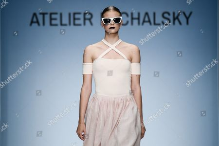 A model presents a creation by German designer Michael Michalsky for his Atelier Michalsky show during the Mercedes-Benz Fashion Week in Berlin, Germany, 03 July 2019. The Spring/Summer 2020 collections are presented at the MBFW Berlin from 01 to 03 July.