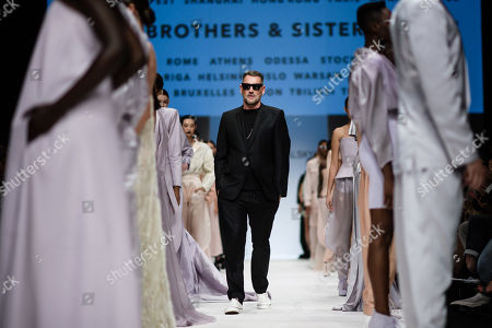 German designer Michael Michalsky appears on the catwalk at the end of his Atelier Michalsky show during the Mercedes-Benz Fashion Week in Berlin, Germany, 03 July 2019. The Spring/Summer 2020 collections are presented at the MBFW Berlin from 01 to 03 July.