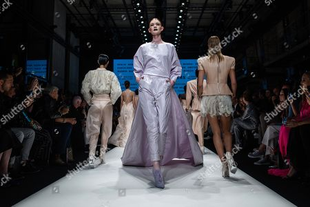 Models present creations by German designer Michael Michalsky for his Atelier Michalsky show during the Mercedes-Benz Fashion Week in Berlin, Germany, 03 July 2019. The Spring/Summer 2020 collections are presented at the MBFW Berlin from 01 to 03 July.