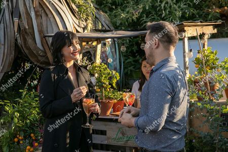 Daisy Lowe spotted with Botanist James Wong at the launch party for Smirnoff's new Spirit Drink, Smirnoff Infusions
