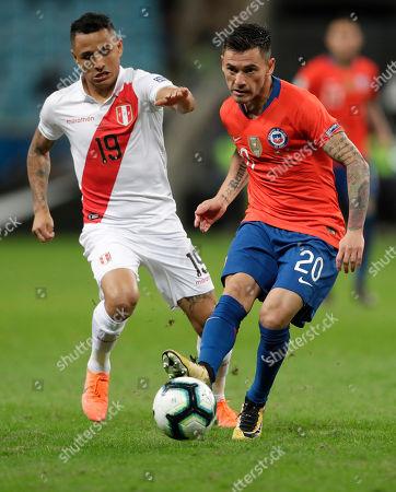 Editorial photo of Soccer Copa America Chile Peru, Porto Alegre, Brazil - 03 Jul 2019