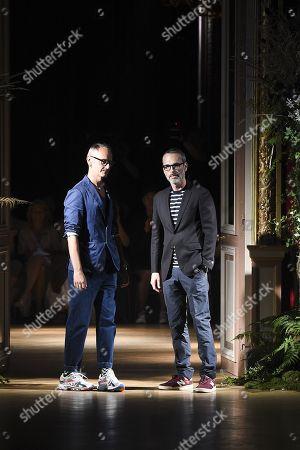 Stock Image of Viktor Horsting and Rolf Snoeren on the catwalk