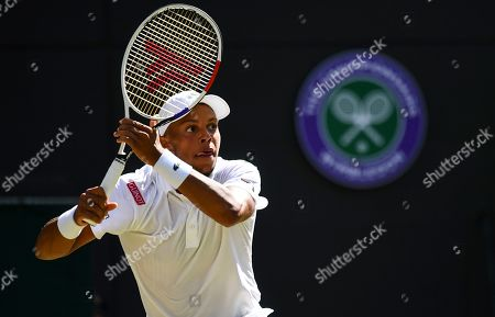 Jay Clarke during his Men's Singles second round match