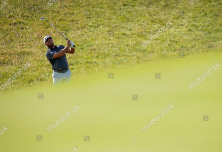 Graham McDowell of Northern Ireland on the 1st hole