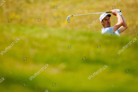 Ross Fisher of England on the 4th hole