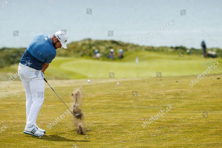 Tyrell Hatton of England on the 6th hole