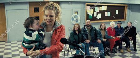 Sienna Miller as Debra, Christina Hendricks as Katherine, Will Sasso as Terry and Amy Madigan as Peggy
