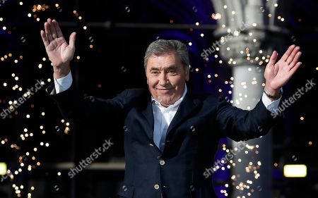 Belgian cyclist legend Eddy Merckx attends  the team's presentation two days ahead of the 106th edition of the Tour de France cycling race in Brussels, Belgium, France, 04 July 2019. The 106th edition of the Tour de France will start in Brussels on 06 July 2019.