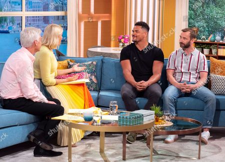 Phillip Schofield and Holly Willoughby with Antony Ogogo and Charlie Condou