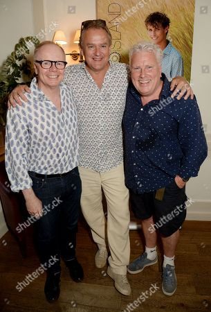 Jason Watkins, Hugh Bonneville and David Westhead