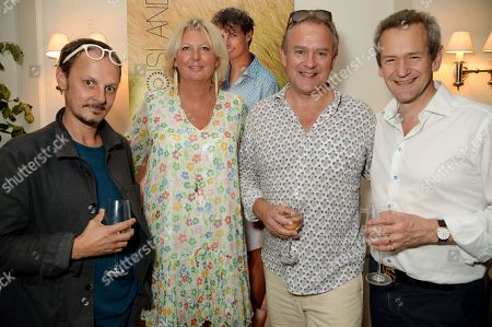 Stock Photo of Jonathan Yeo, Lulu Williams, Hugh Bonneville and Alexander Armstrong