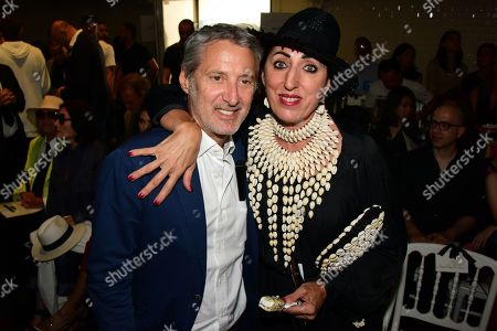 Antoine de Caunes, Rossy De Palma in the front row