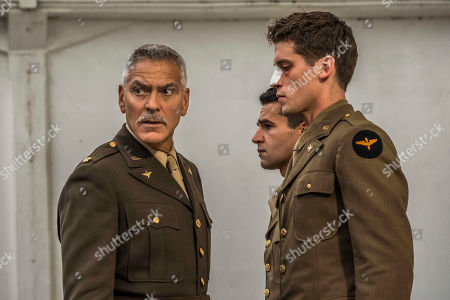 George Clooney as Scheisskopf, Christopher Abbott as Yossarian and Pico Alexander as Clevinger