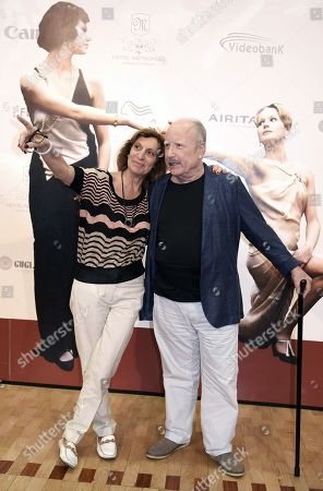 Richard Dreyfuss (R) and Italian festival director Silvia Bizio pose during a photo call during the 65th annual Taormina Film Festival, in Taormina, Sicily Island, Italy, 04 July 2019. The festival runs from 30 to 06 July.