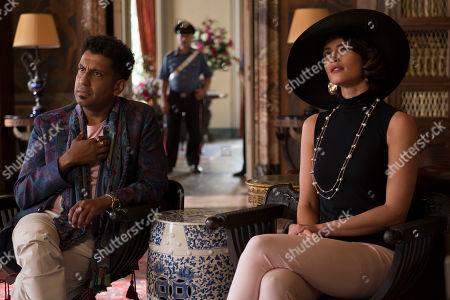 Adeel Akhtar as Maharaja Vikram Govindan and Gemma Arterton as Grace Ballard