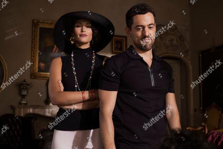 Gemma Arterton as Grace Ballard and Luis Gerardo Mendez as Juan Carlos