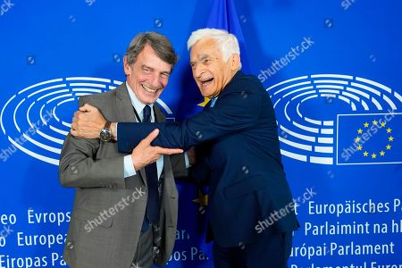 Stock Picture of David Sassoli, Jerzy Buzek