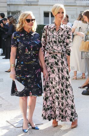 Kathy Hilton and Nicky Hilton Rothschild attend the Valentino Haute Couture Fall/Winter 2019 2020 show as part of Paris Fashion Week on July 03, 2019 in Paris, France